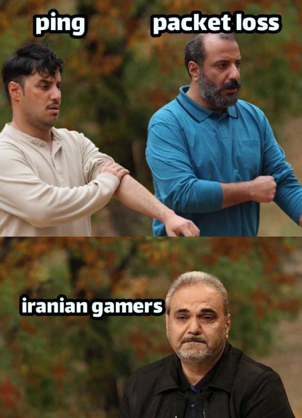 ping      packet loss... iranian gamers